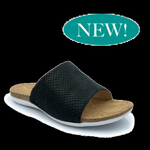 SUBER Orthotic Flip Flops | Black One-Strap | FootActive